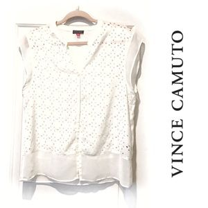 Vince Camuto blouse sheer